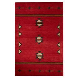 Otero Lodge Western Native Rustic Red Wool Rug - 5x8