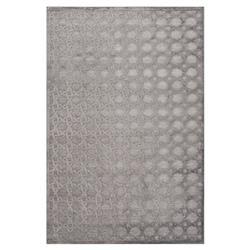 Lynn Regency Luster Lattice Grey Chenille Rug - 5' x 7'6