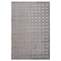"Lynn Regency Luster Lattice Grey Chenille Patterned Rug - 9'6""x13'6"""