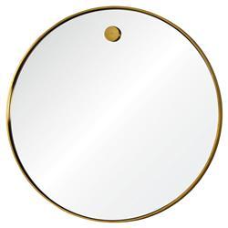 Regina Andrew Hanging Simple Modern Round Brass Mirror - 36D
