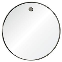 Regina Andrew Hanging Simple Modern Round Steel Mirror - 36D