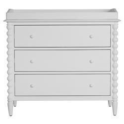 Molly Vintage Modern White Wood Spindle Change Table Dresser