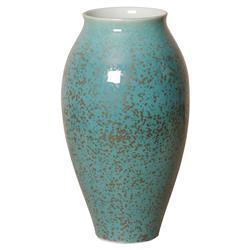 Emory Coastal Lagoon Blue Tall Ceramic Vase