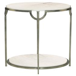 Laci Regency Carrera Nickel Oval End Table