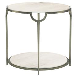 Laci Regency Carrera Nickel Round End Table