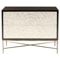 Calli Modern Regency Ivory Capiz Burst Bachelor Chest