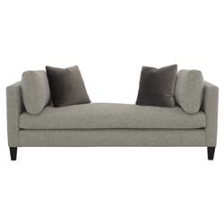 Zelie Loft Classic Heather Grey Upholstered Brown Wood Daybed
