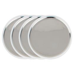Dauville Regency Silver Ceramic Tidbit Plate Set - Set of 4