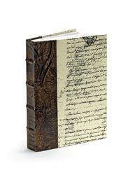 Single Antique Brown Baroque Script Decorative Vintage Book