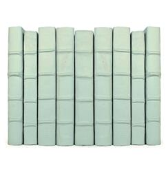 Linear Foot Vintage Hand Made Sky Blue Decorative Books
