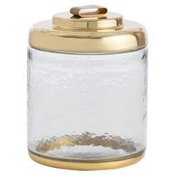 Danica Classic Hammered Glass Brass Lid Ice Bucket