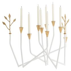Kirar Retro White Constellation Gold Leaf Candle Holder