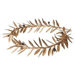 Aesop Gold Leaf Round Metal Wreath Sculpture