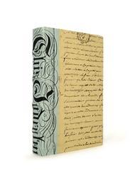 Single Vintage Hand Made Sky Blue Bold Baroque Script Book