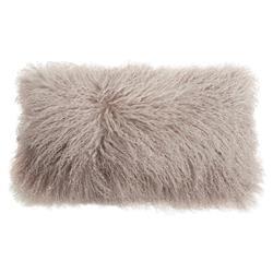 Devi Global Tibetan Textured Wool Birch Pillow - 11x22
