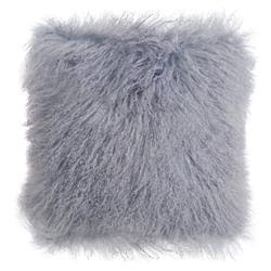 Devi Global Tibetan Textured Wool Dove Pillow - 16x16
