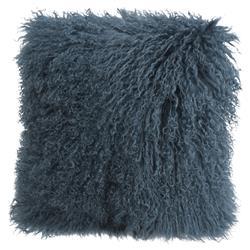 Devi Global Tibetan Textured Wool Teal Slate Pillow - 16x16