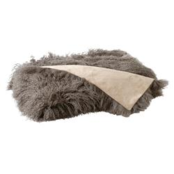 Devi Bazaar Tibetan Wool Textured Throw Blanket - Brown
