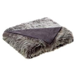 Devi Bazaar Tibetan Wool Textured Grey Throw Blanket
