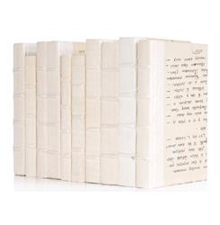 Linear Foot Vintage Antique White Vellum Decorative Book