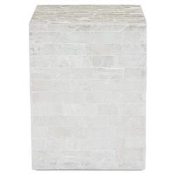 Fadim Global Bazaar Alabaster Gypsum Mosaic End Table