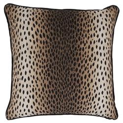 Lava Regency Black Linen Cheetah Print Pillow - 22x22