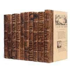 Linear Foot Antique Brown Baroque Bold Script Decorative Books