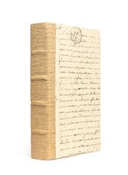 Single Recycled Wood Bark Script Decorative Book