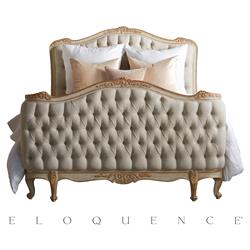 Eloquence Sophia Gold Fog Linen Two Tone Bed - Queen