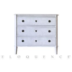 Eloquence Fleur de Sel White Nicolas Commode Dresser