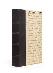 Single Solid Black Script Decorative Book