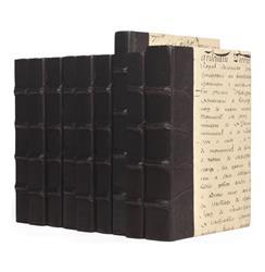 Linear Foot Solid Black Script Decorative Book