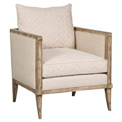 Evine Coastal Rustic Wood Chevron Oatmeal Armchair