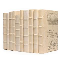 Linear Foot Solid Ivory Decorative Designer Books