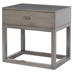 Thom Filicia Colgate Industrial Nickel Pull Walnut Nightstand