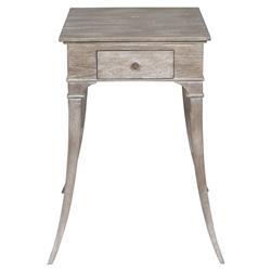 Vanguard Athos Coastal Beach Hampton Grey Small Wood Nightstand