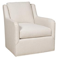 Vanguard Fisher Modern Ivory Bone Rounded Pattern Swivel Chair
