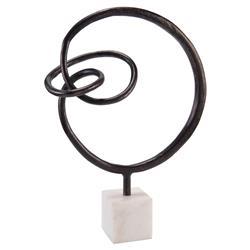 John-Richard Bronze Loop Modern Classic Marble Sculpture