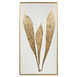 John-Richard Regency Large Gold Leaf Foliage Giclee Botanical - II