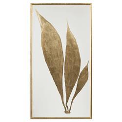 John-Richard Regency Large Gold Leaf Foliage Giclee Botanical - I