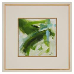 John-Richard Daze Green Sky Abstract Ivory Gold Giclee Painting