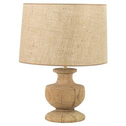Hudson French Country Solid Oak Urn Lamp | Kathy Kuo Home