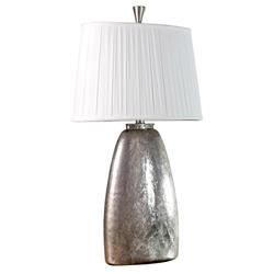"Vivian Glass Antique Silver Modern Elegant Lamp - 36"" Height 