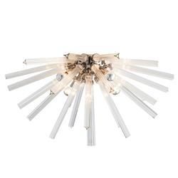 Arteriors Hanley Modern Burst Glass Rod Nickel Ceiling Mount