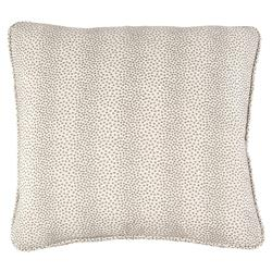 John-Richard Brodie Regency Textured Dotted Grey Ivory Pillow - 22x22
