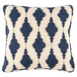 John-Richard Salma Bazaar Embroidered Indigo Navy Pillow - 22x22