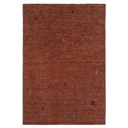 Ulrich Lodge Global Rust Red Nomadic Wool Rug - 5x7'6
