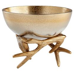 Dasher Metallic Ombre Gold Antler Bowl - Small