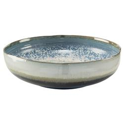 John-Richard Shallow Reactive Glaze Blue Ceramic Decorative Bowl