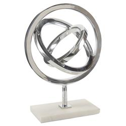 Pavegen Kinetic Silver Modern Marble Sculpture